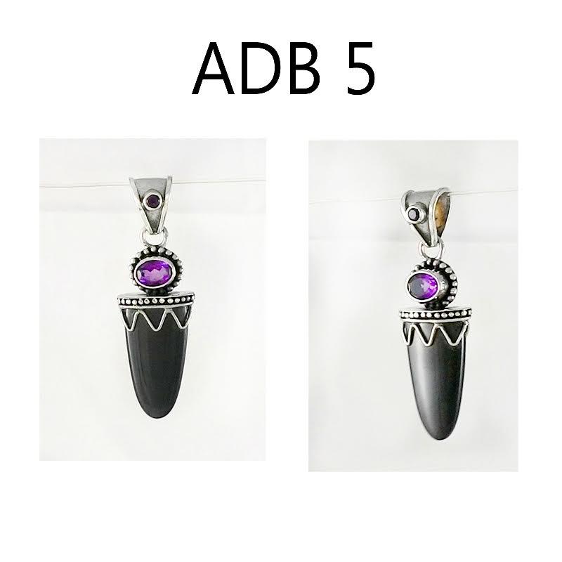 Rainbow Obsidian and Amethyst Pendant – ADB5
