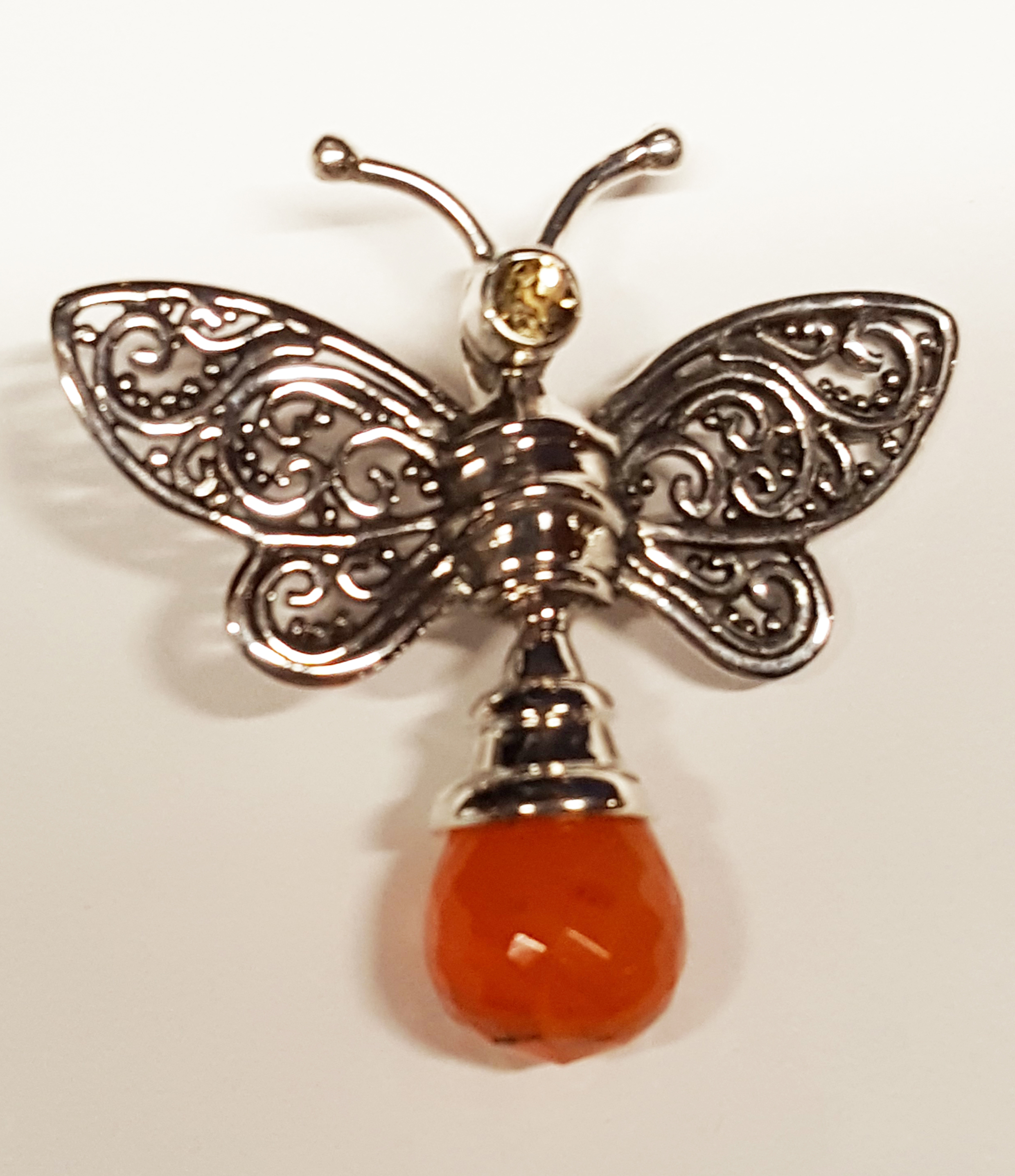 dragonfly artisan pendant products fredrick necklace button prince dragongly jewelry embellished