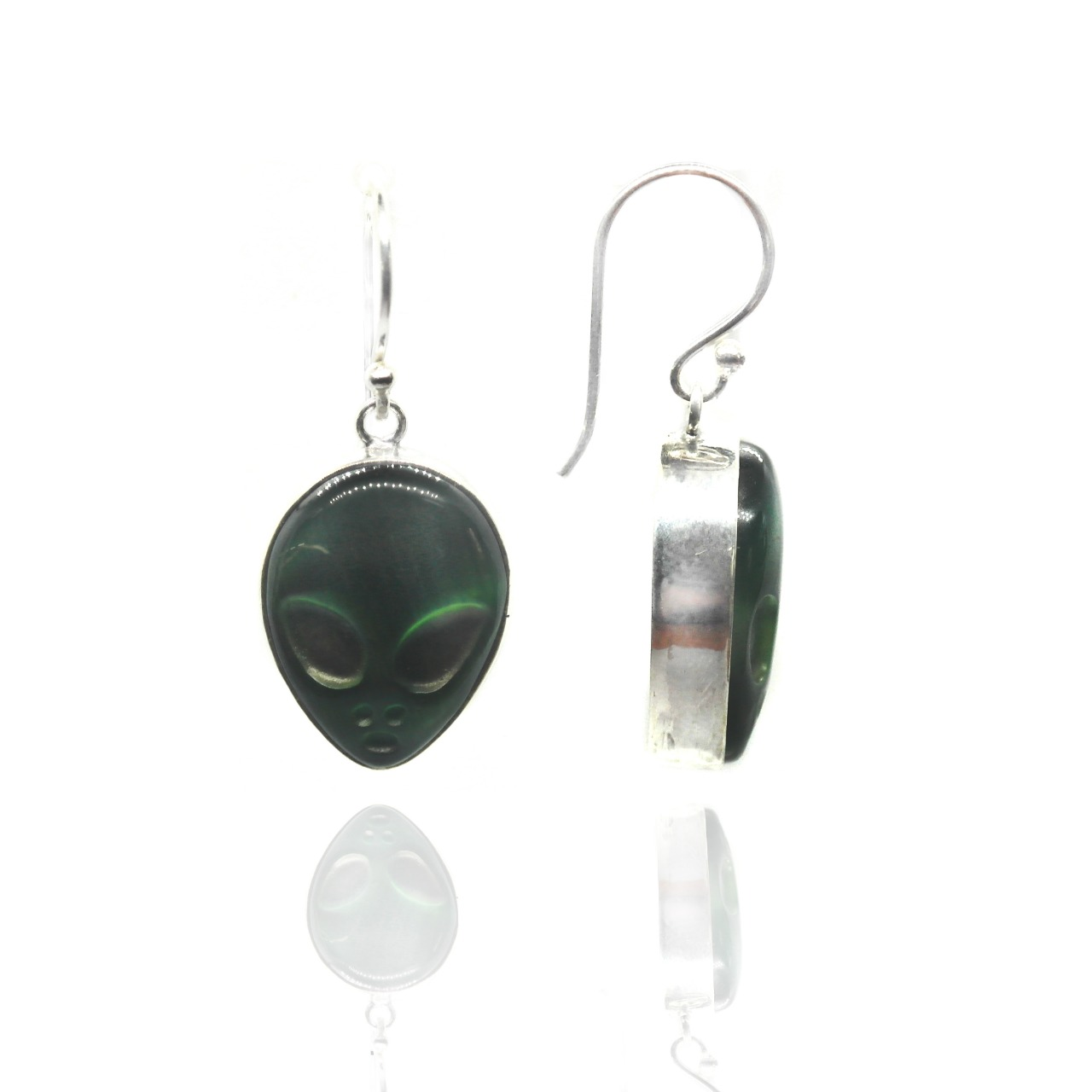 Alien Head Earrings – (EB1)