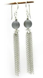 Lightening stone (synth) dangle earrings – SB1
