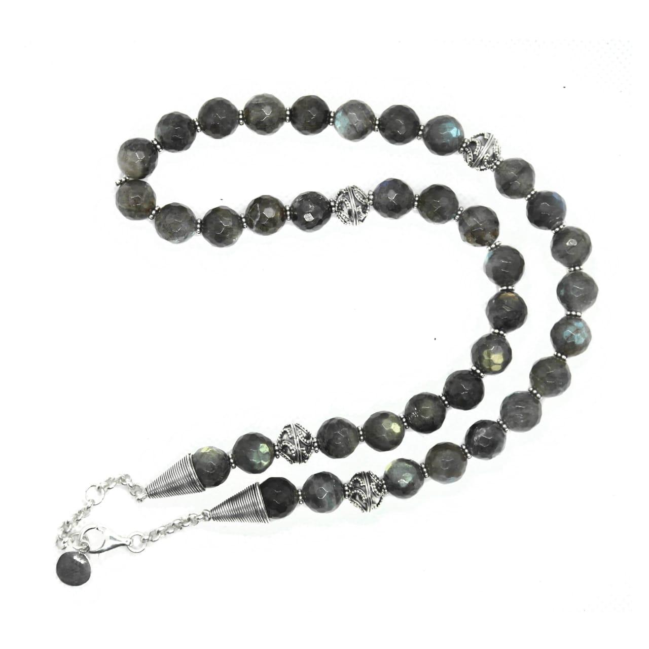 Faceted Labradorite necklace – (NB101)