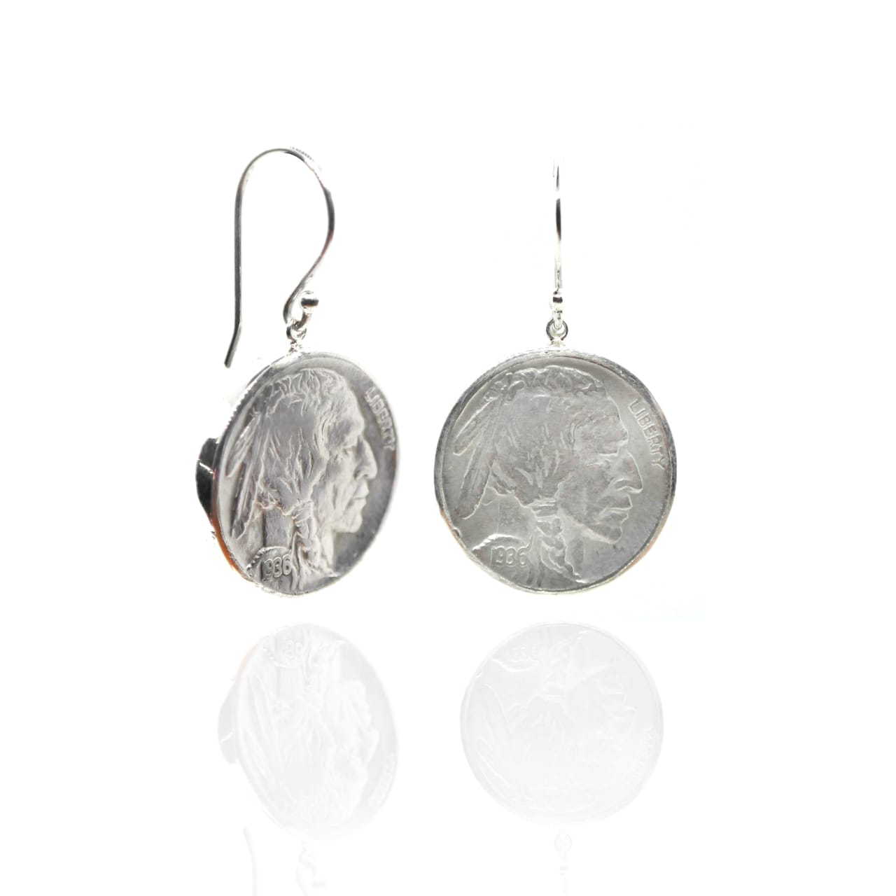 Buffalo Nickel Dangle Earrings – (BP29E)